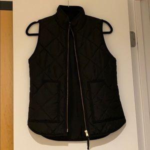 Black Lightweight Puffer Vest J. Crew Factory XXS